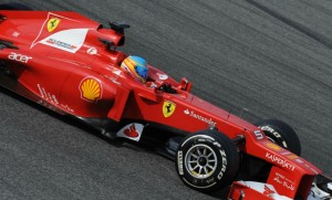 Ferrari F2012 na pr-temporada em Barcelona. 