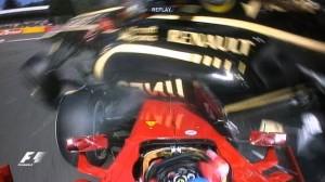 A última coisa de passou na cabeça do Alonso... Foto reprodução
