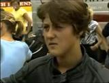 Filho de pedreiro, dando uma de suas primeiras entrevistas