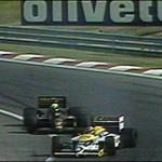 1986 Hungarian GP - Piquet Senna