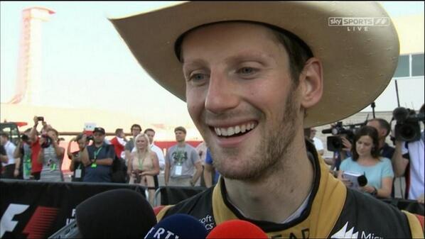 """""""Agora vou tirar este chapéu, encher um caneco de Groselha e ouvir meu Podcast F1 Brasil"""", afirmou Grosjean ao final da entrevista"""