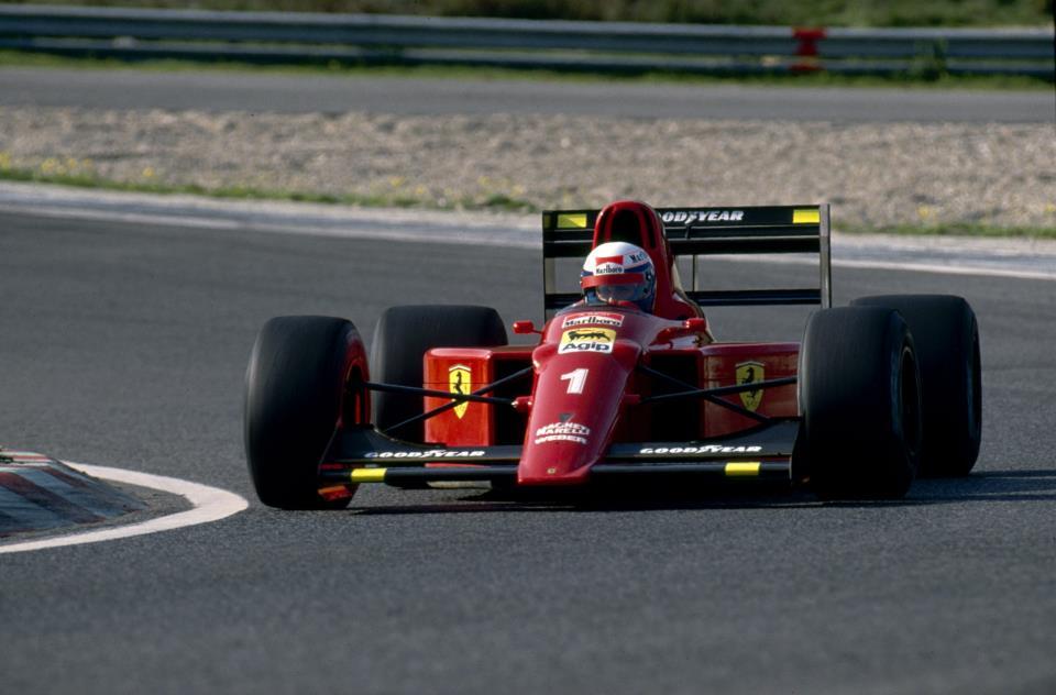 Alain Prost e sua Ferrari 641