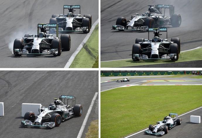 Falha de Nico Rosberg que lhe custou a vitória.
