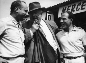 Fangio, Neubauer e Moss, 1954. Que Dream Team!
