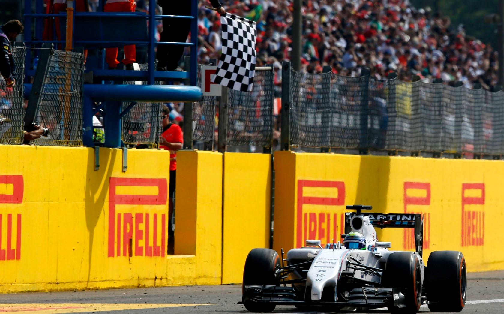 Felipe Massa voltou ao pódio após muita espera.