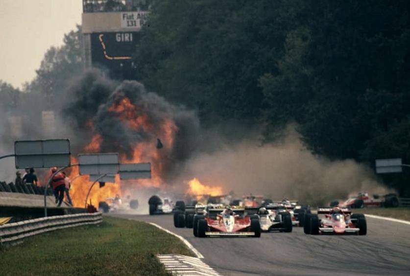 monza peterson crash death fire 1978 f1 Capture