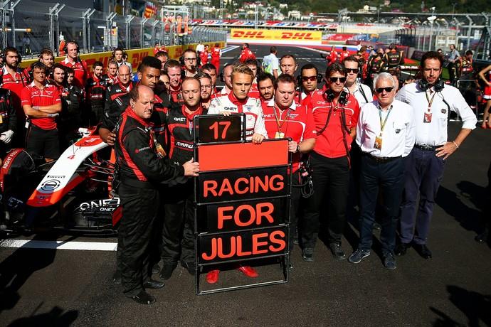 Jules Bianchi recebeu muitas energias positivas antes da prova.