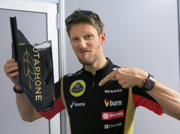 Grosjean Groselha Fragmento Red Bull Crash Bang