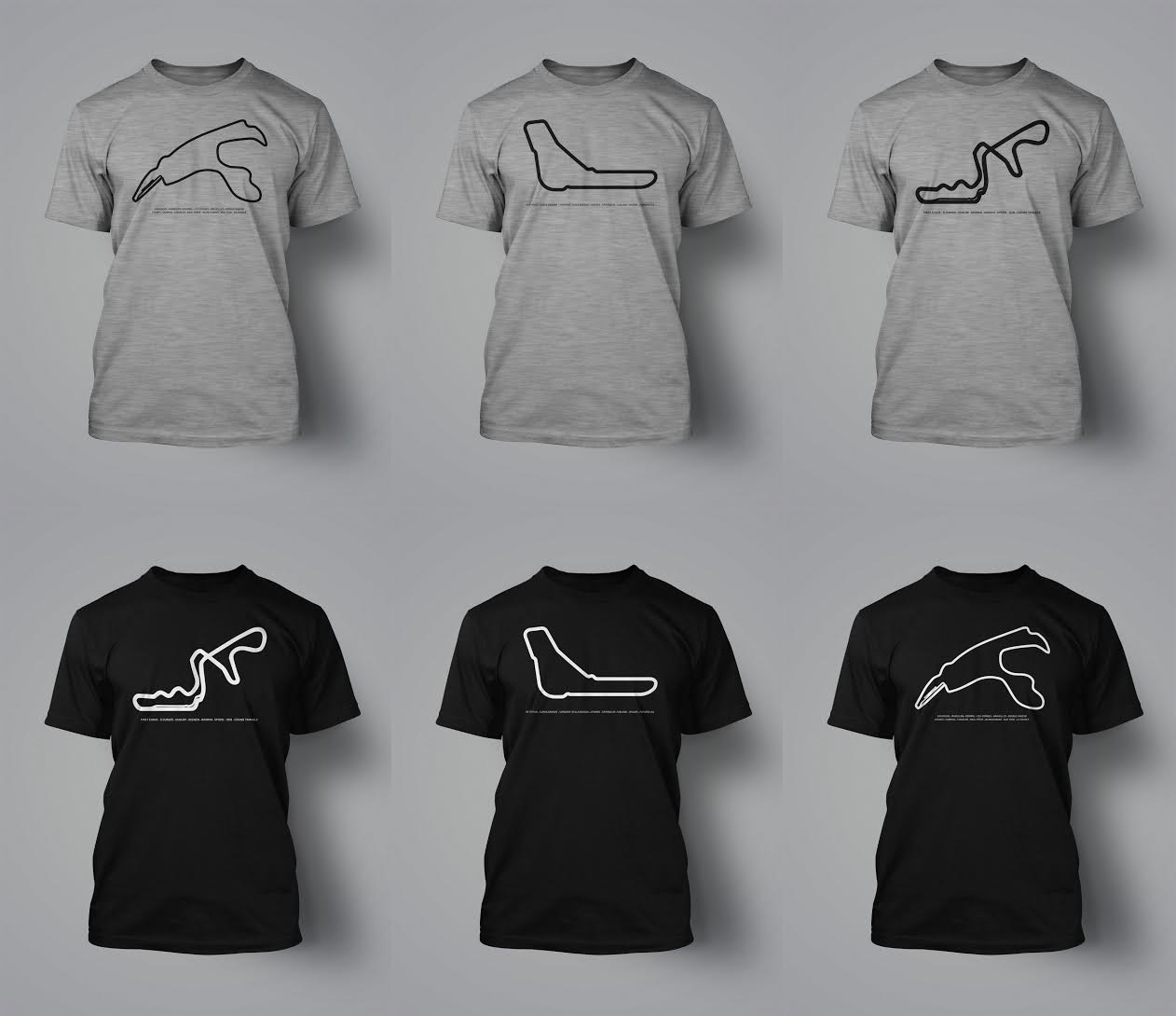camisetas circuitos spa monza suzuka