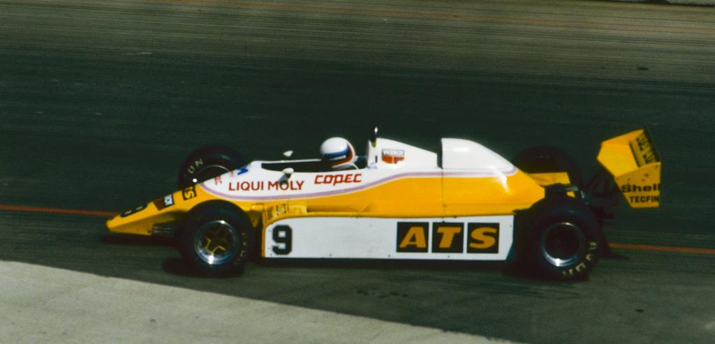 Manfred Winkelhock Qualifying the ATS at Long Beach 1982