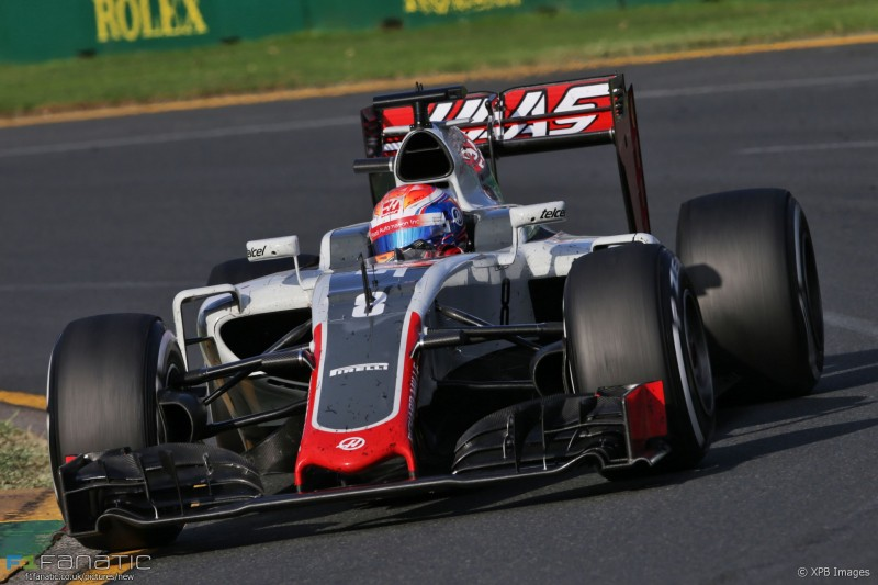 Romain Grosjean (FRA) Haas F1 Team VF-16. 20.03.2016. Formula 1 World Championship, Rd 1, Australian Grand Prix, Albert Park, Melbourne, Australia, Race Day. - www.xpbimages.com, EMail: requests@xpbimages.com - copy of publication required for printed pictures. Every used picture is fee-liable. © Copyright: Moy / XPB Images