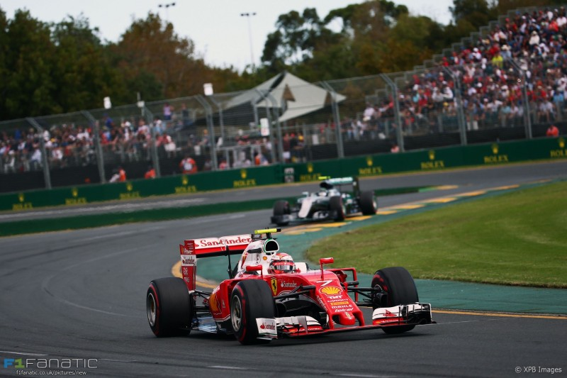 Kimi Raikkonen (FIN) Ferrari SF16-H. 20.03.2016. Formula 1 World Championship, Rd 1, Australian Grand Prix, Albert Park, Melbourne, Australia, Race Day. - www.xpbimages.com, EMail: requests@xpbimages.com - copy of publication required for printed pictures. Every used picture is fee-liable. © Copyright: Batchelor / XPB Images